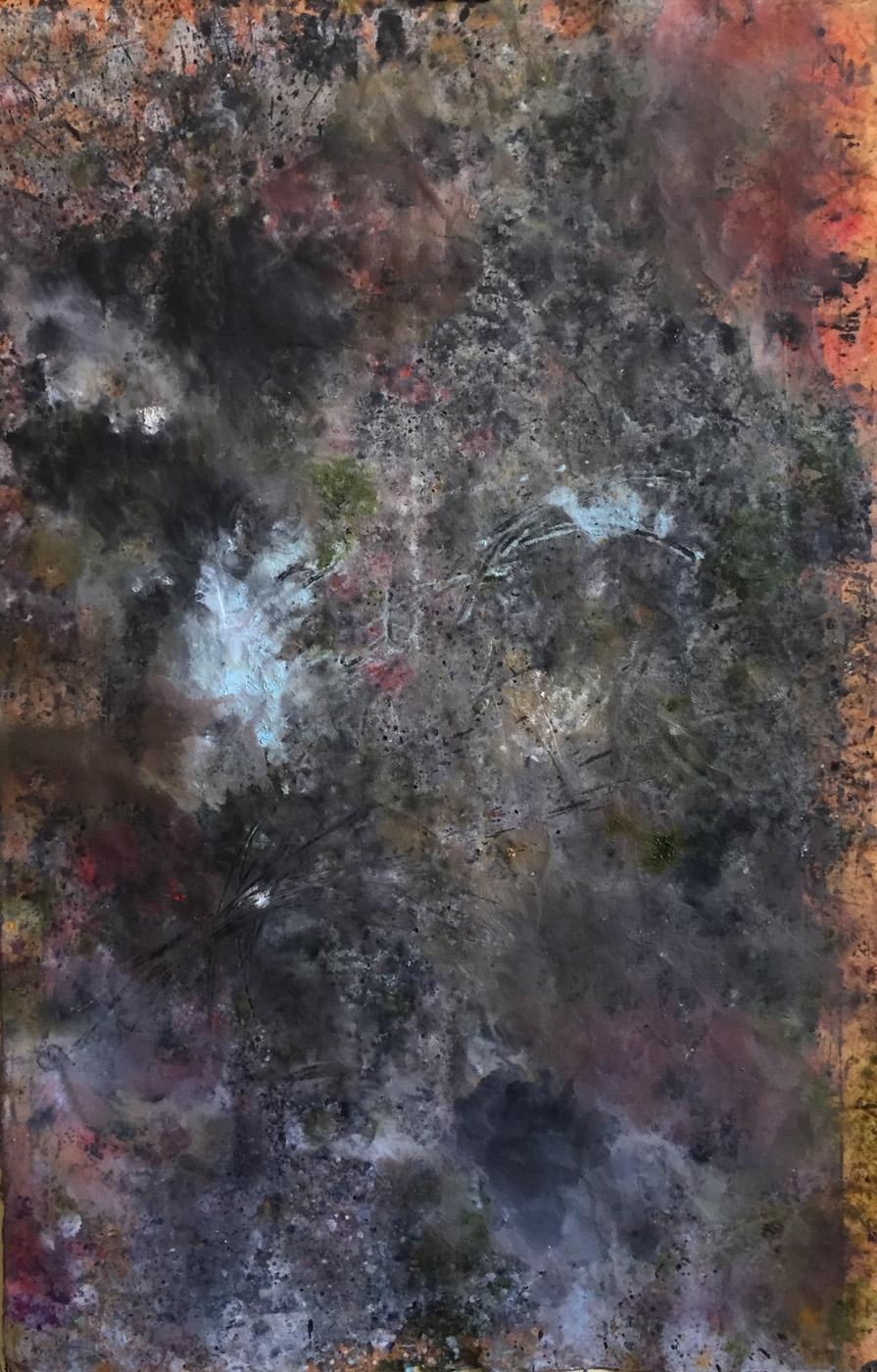 MARC FELD 2020 VULCAIN 1 Huile et acrylique sur papier 101 x 65 cm