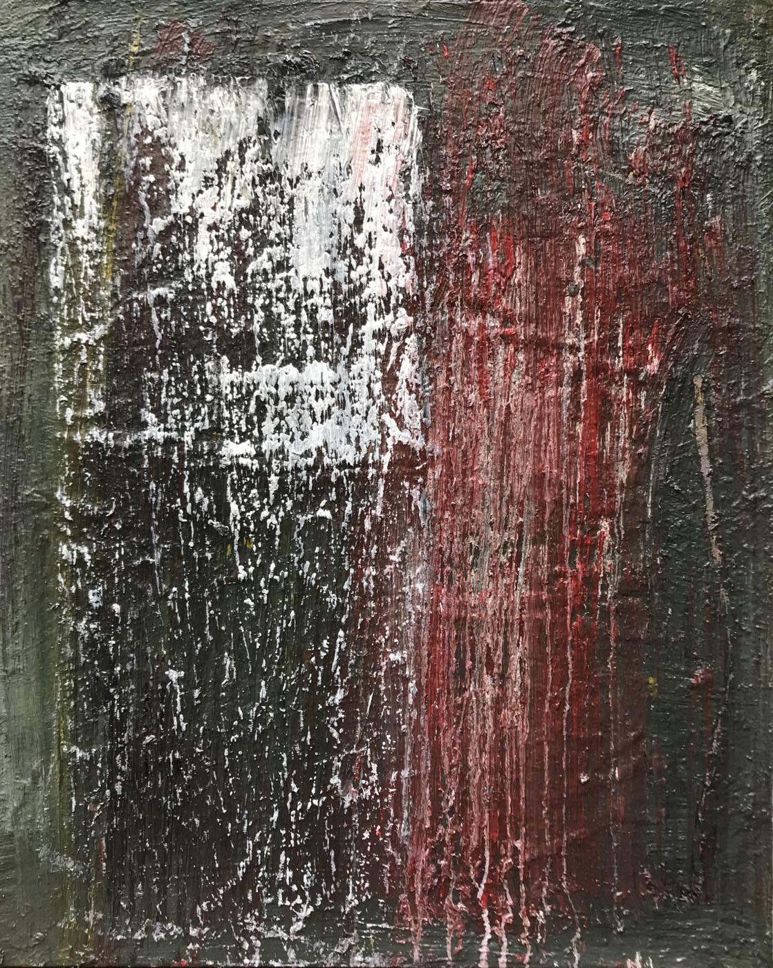MARC FELD 2020 DÉSIR Huile sur papier marouflé sur toile 80 x 65 cm