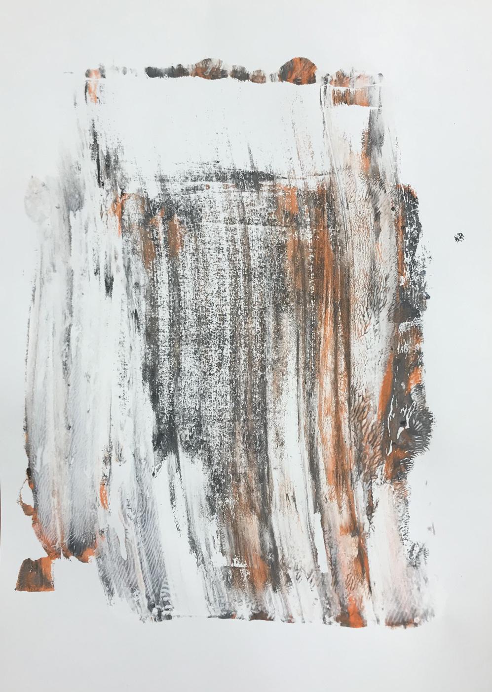 MARC FELD 2021 ALLUSIONS ALLUVIONS Gouache sur papier 30 x 42 cm