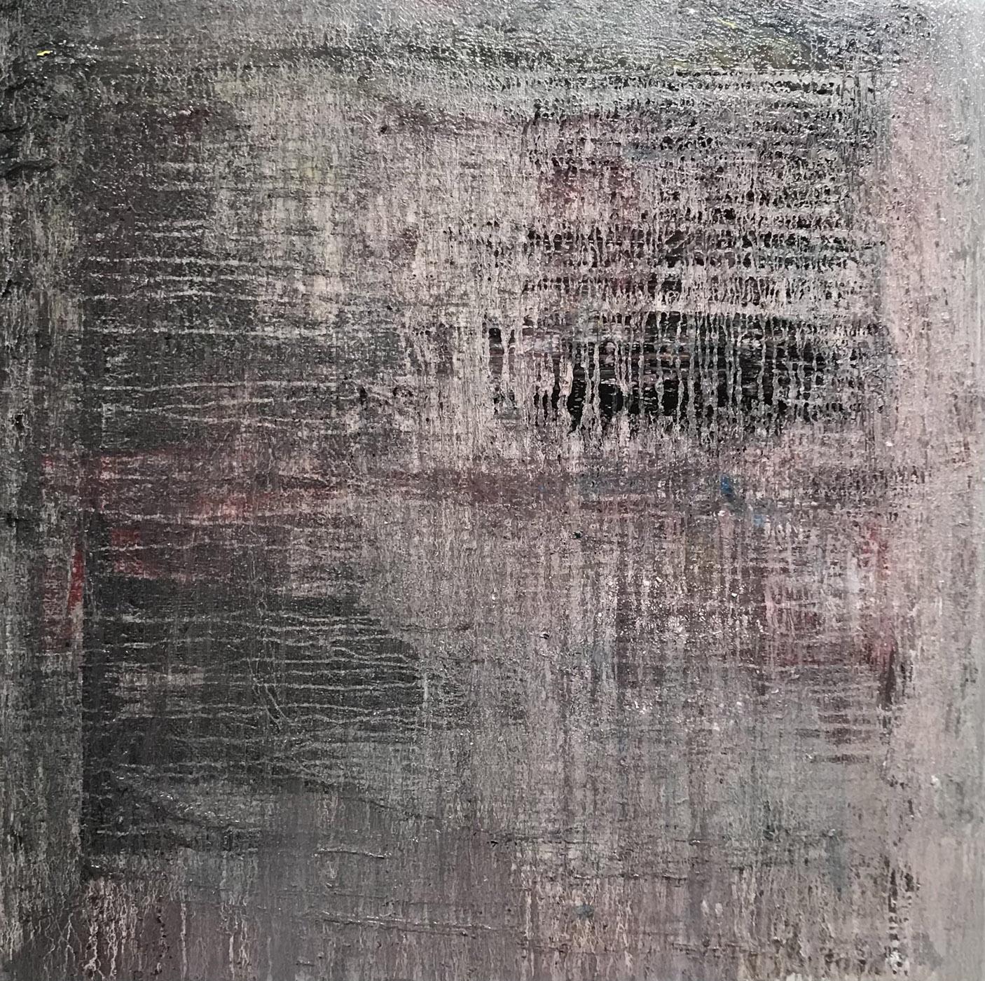 MARC FELD 2021 TRAMES Huile sur toile 120 x 120 cm