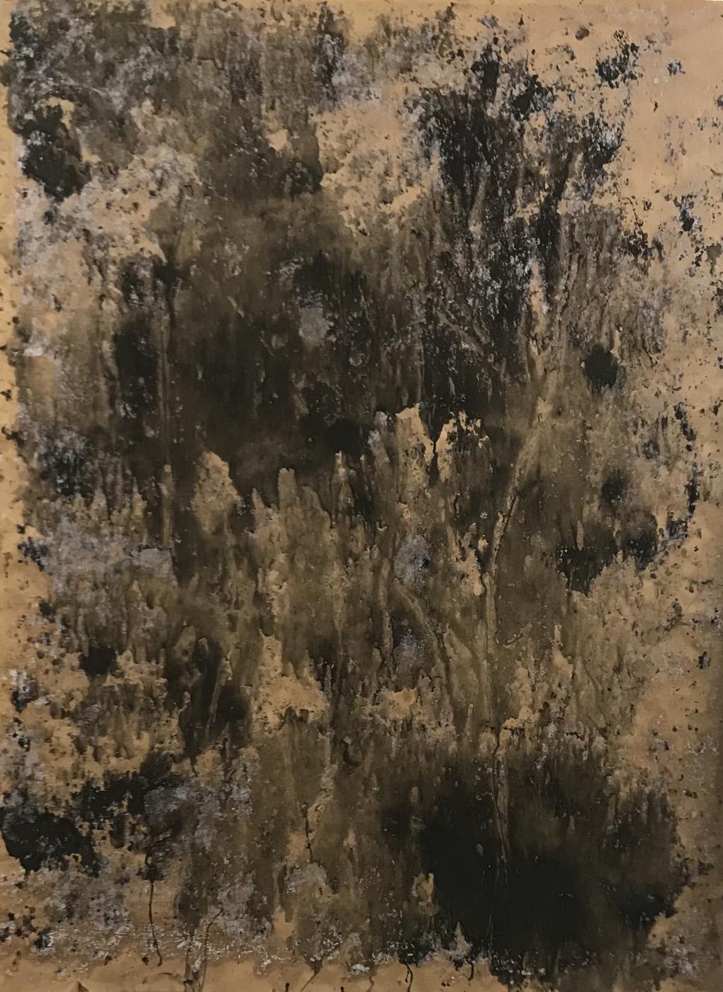 MARC FELD 2021 ÉBOULIS 3 série MURAILLES MÉMOIRES Huile gouache et acrylique sur papier 130 x 96 cm