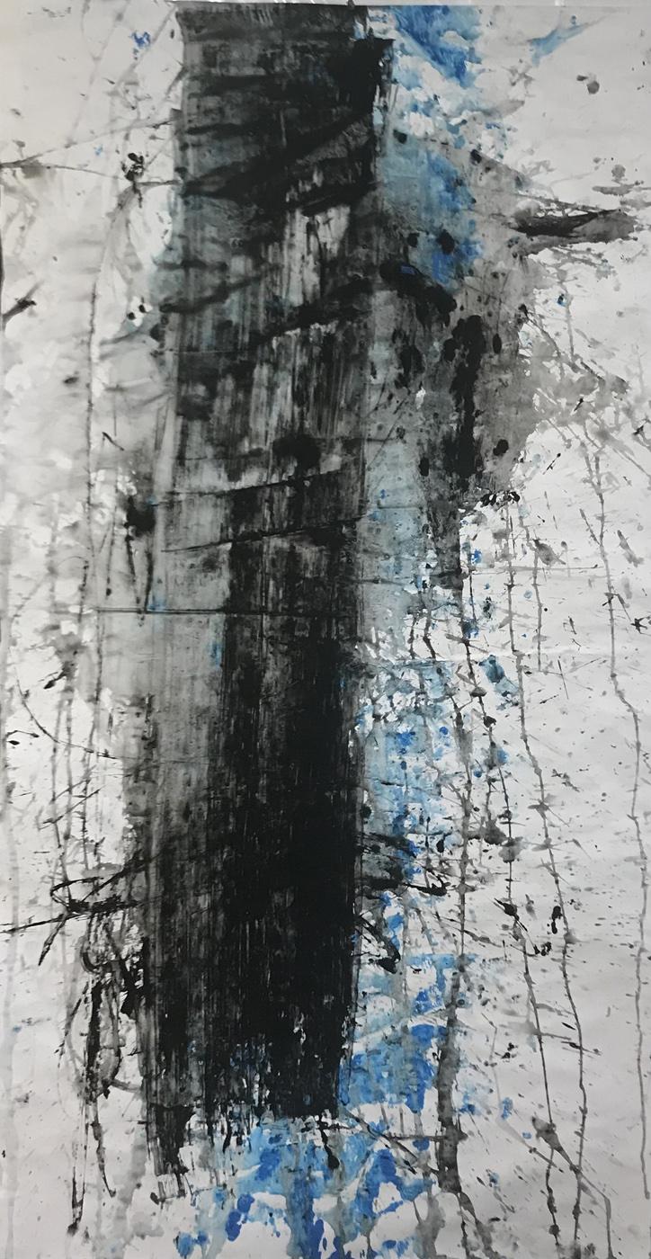 MARC FELD 2021 CORPUS 1 gouache et acrylique sur papier 130 x 96 cm