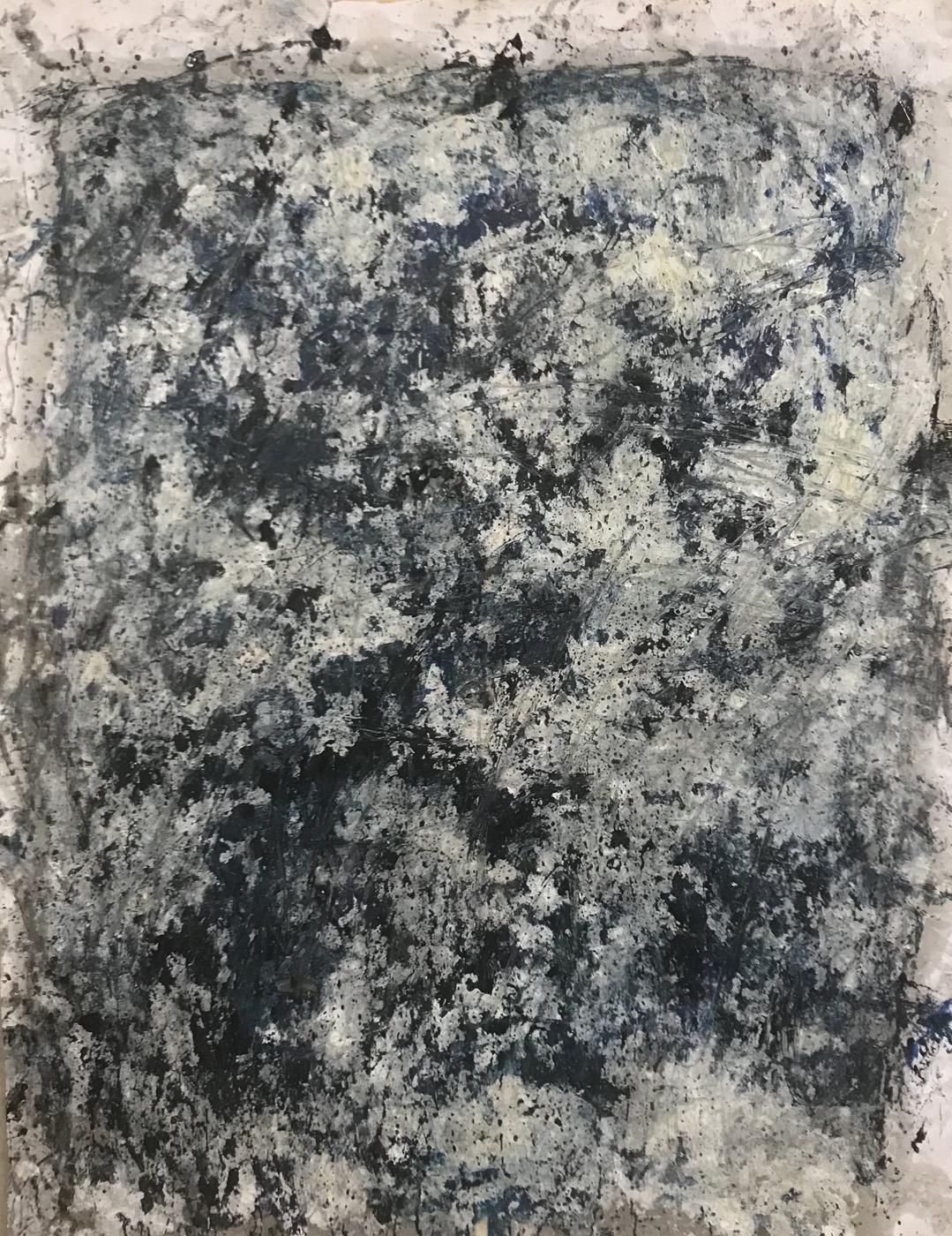 MARC FELD 2021 SANG NOIR série MURAILLES MÉMOIRES Huile gouache et acrylique sur papier 130 x 96 cm
