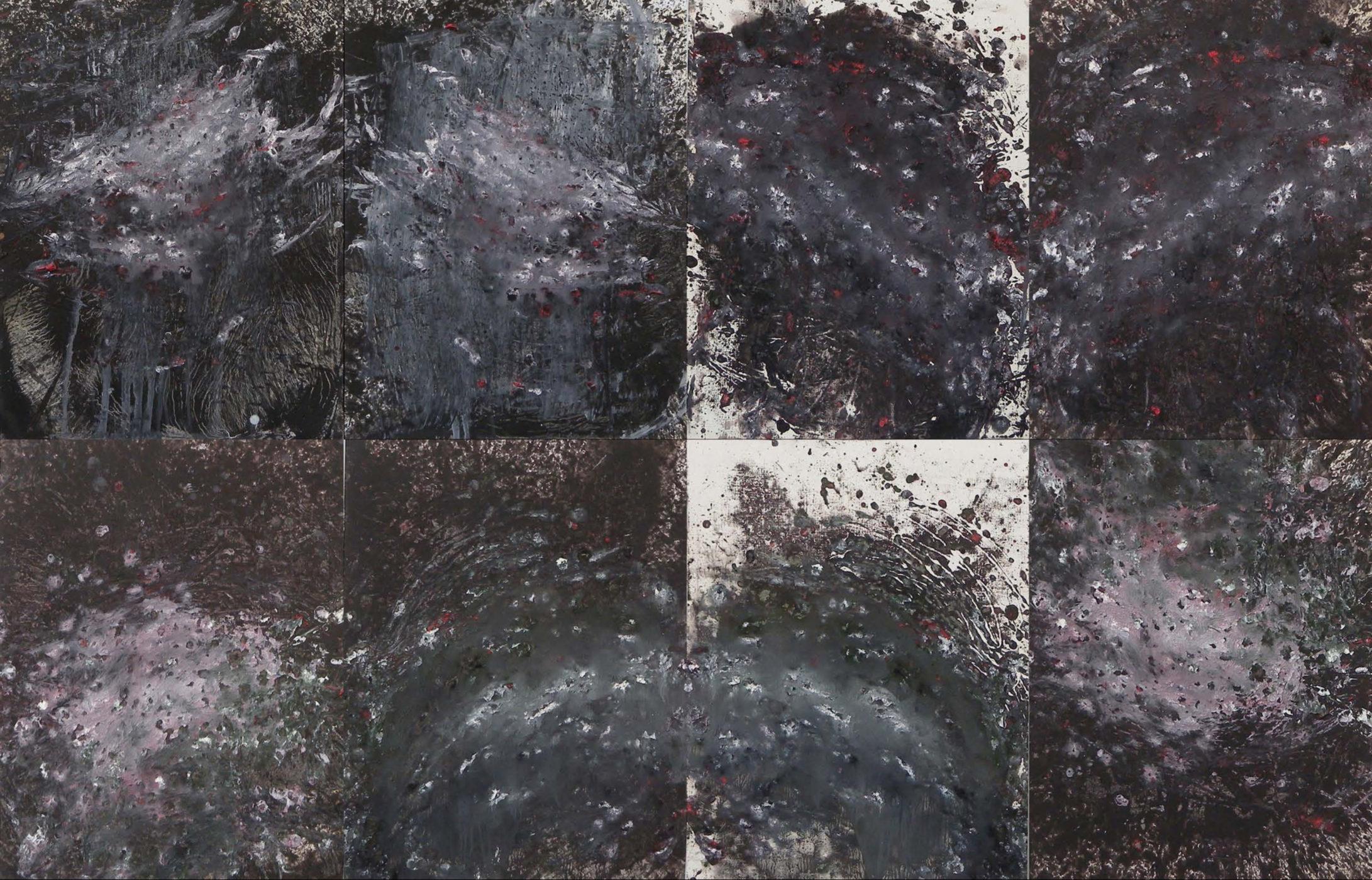 MARC FELD 2014 SOLILOQUE  Huile sur papier marouflé sur toile 130 x 200 cm