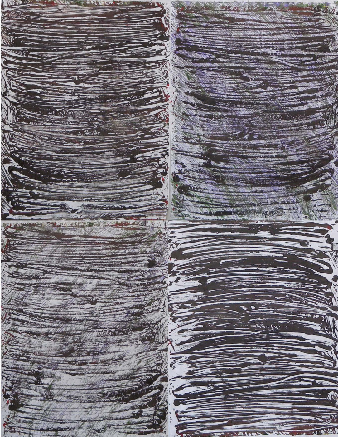 MARC FELD 2014 SENTENCE  Huile sur papier marouflé sur toile 130 x 100 cm