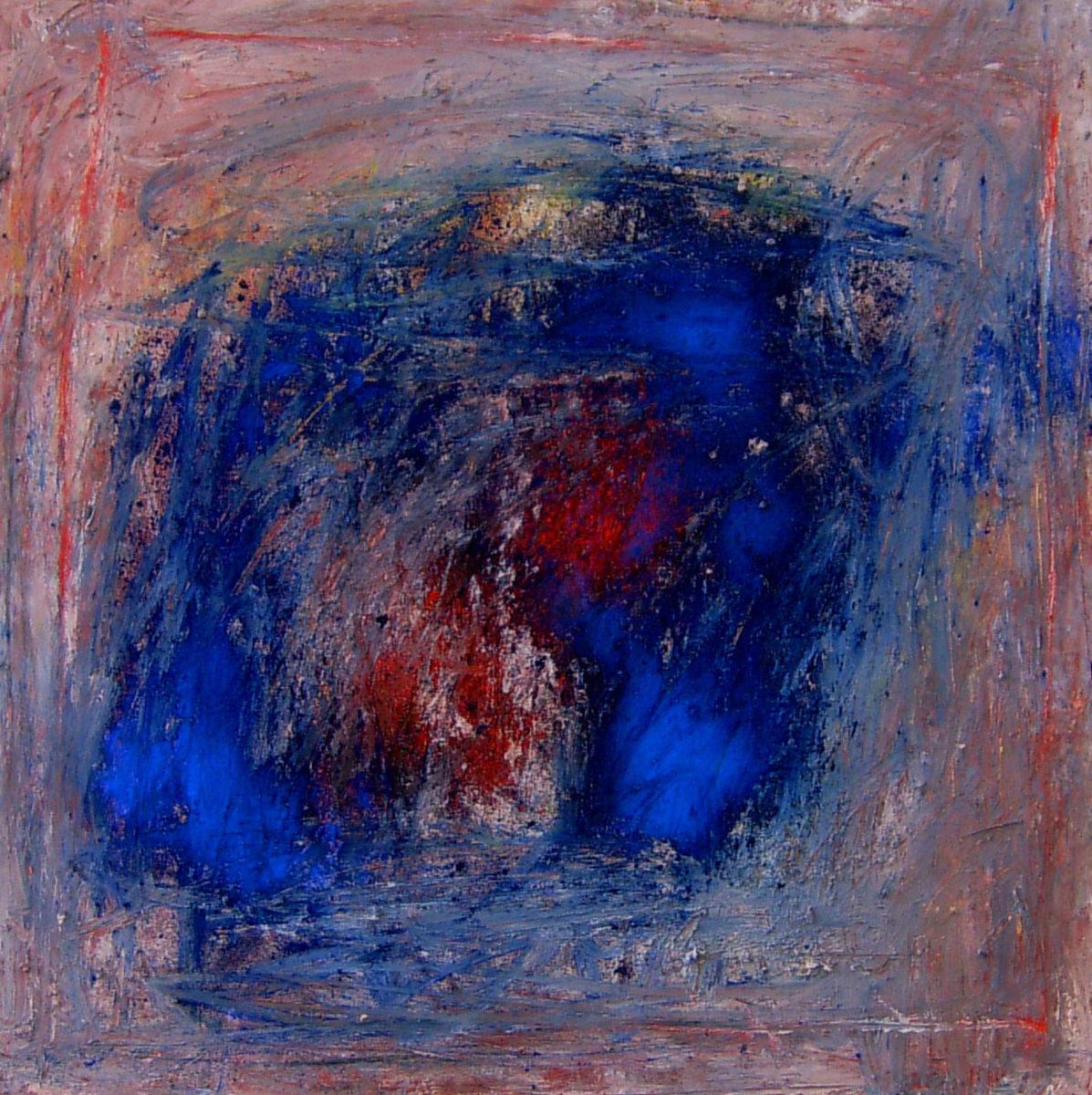MARC FELD 2005 DANS LE FEU DU BLEU (pour Zéno bianu) Huile et pigment sur toile 80 x 80 cm