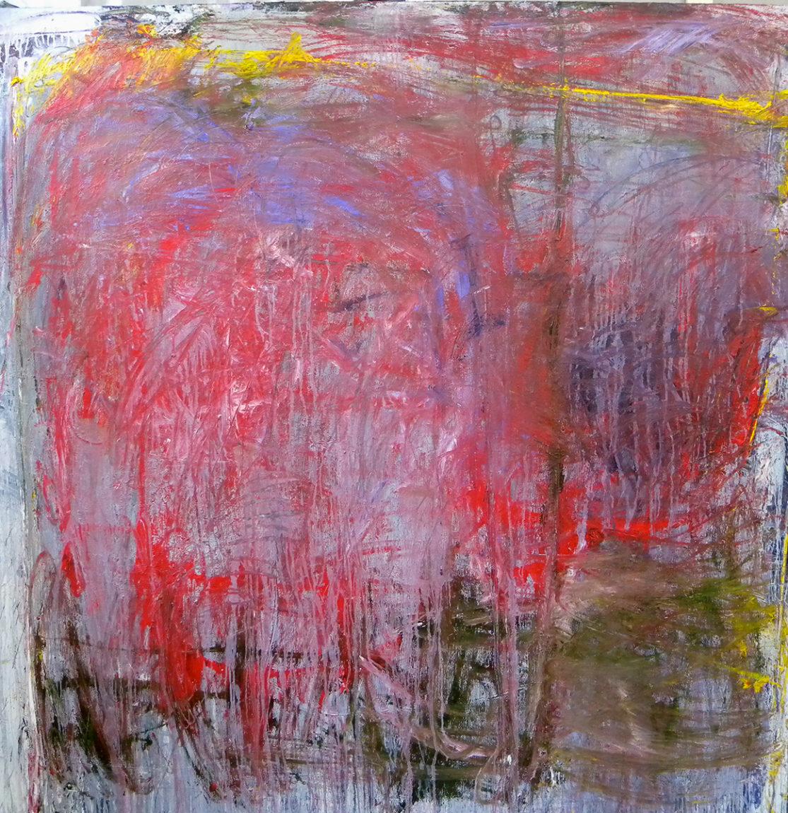 MARC FELD 2011 VERS LES CASCADES Huile sur toile 200 x 200 cm