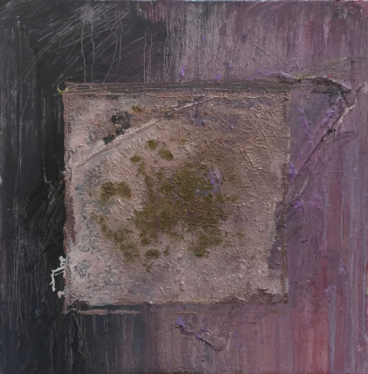 MARC FELD 2017 RHIZOME Huile sur toile 60 x 60 cm