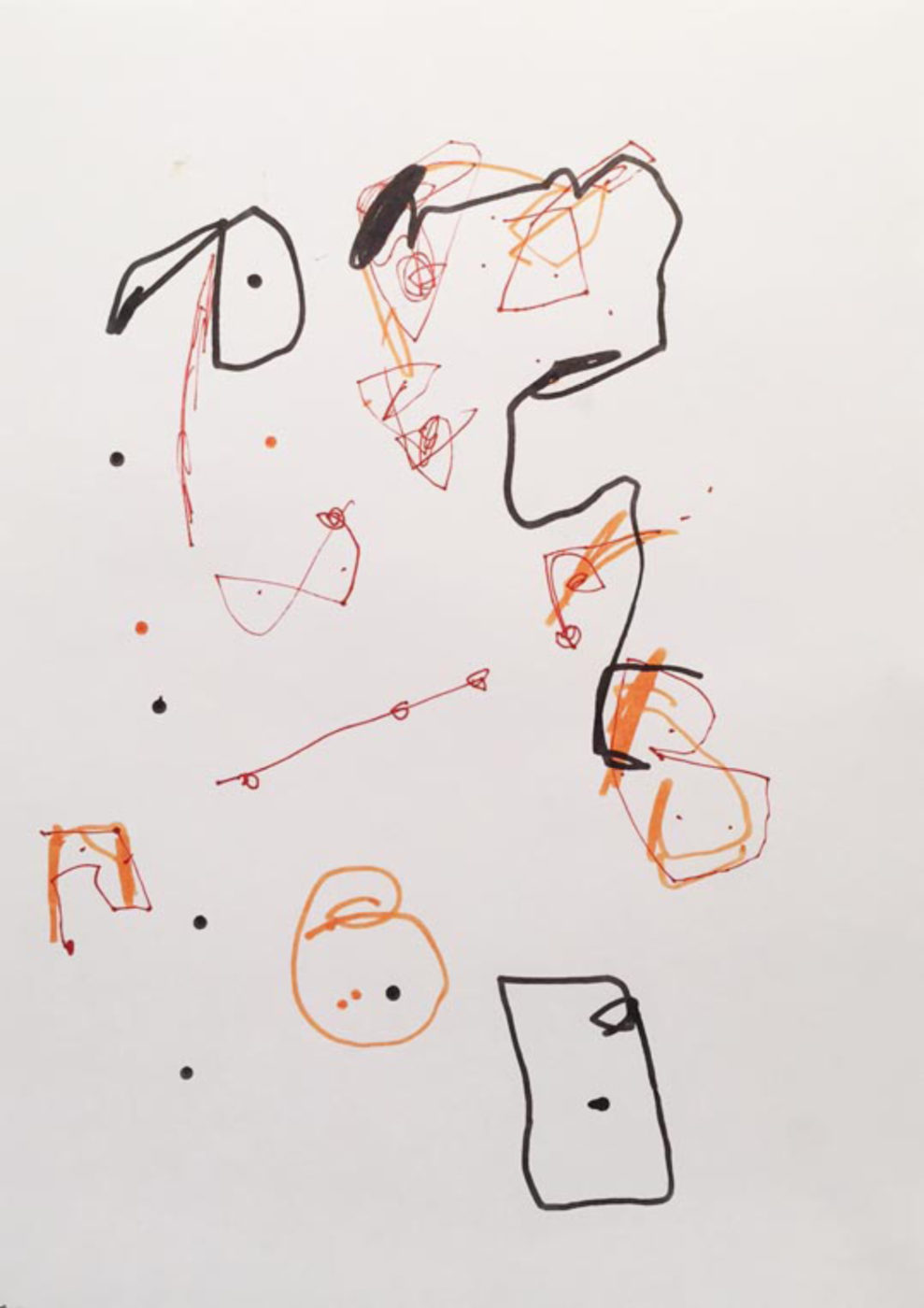 MARC FELD 2003 LITTLE SONG FOR MAURICIO KAGEL 11 Stylo feutre et stylo bille sur papier 21x29, 7 cm