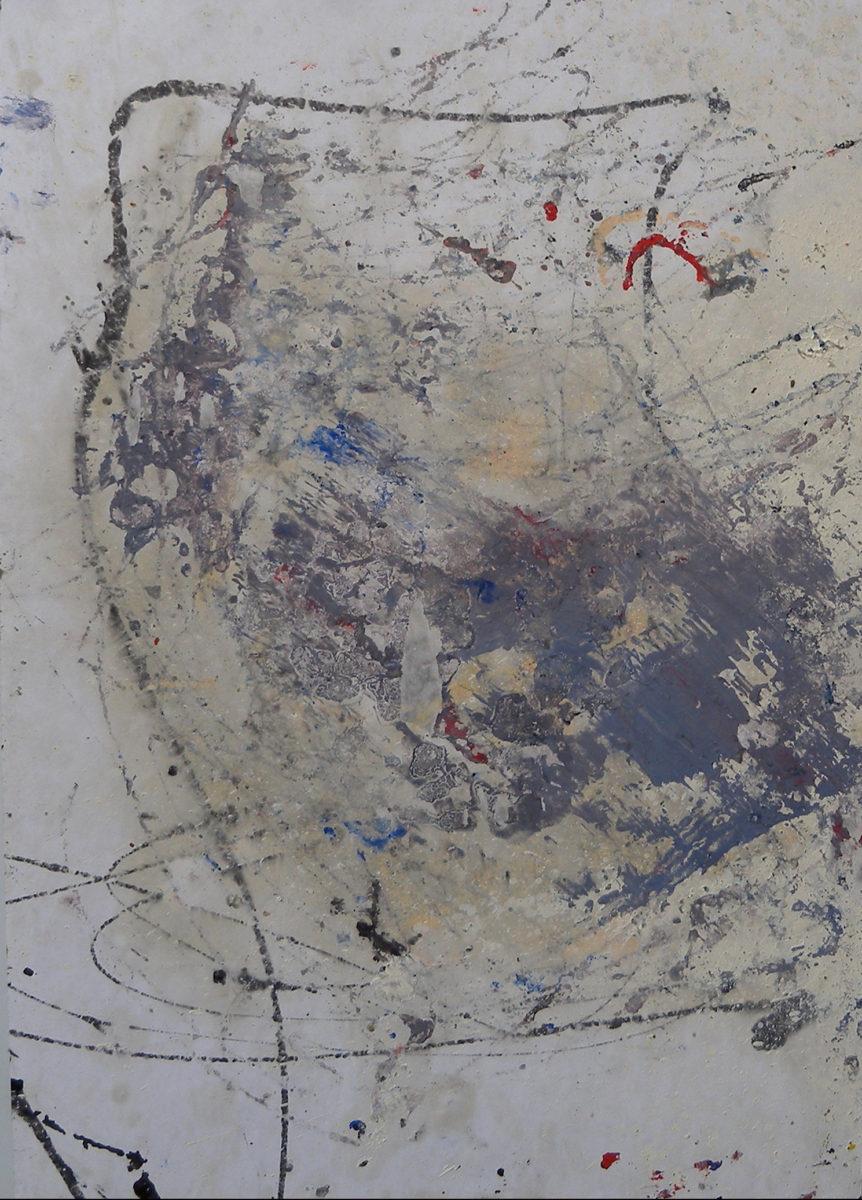 MARC FELD 2003 PHILOCTÈTE Huile sur papier marouflé sur toile 44 x 64 cm