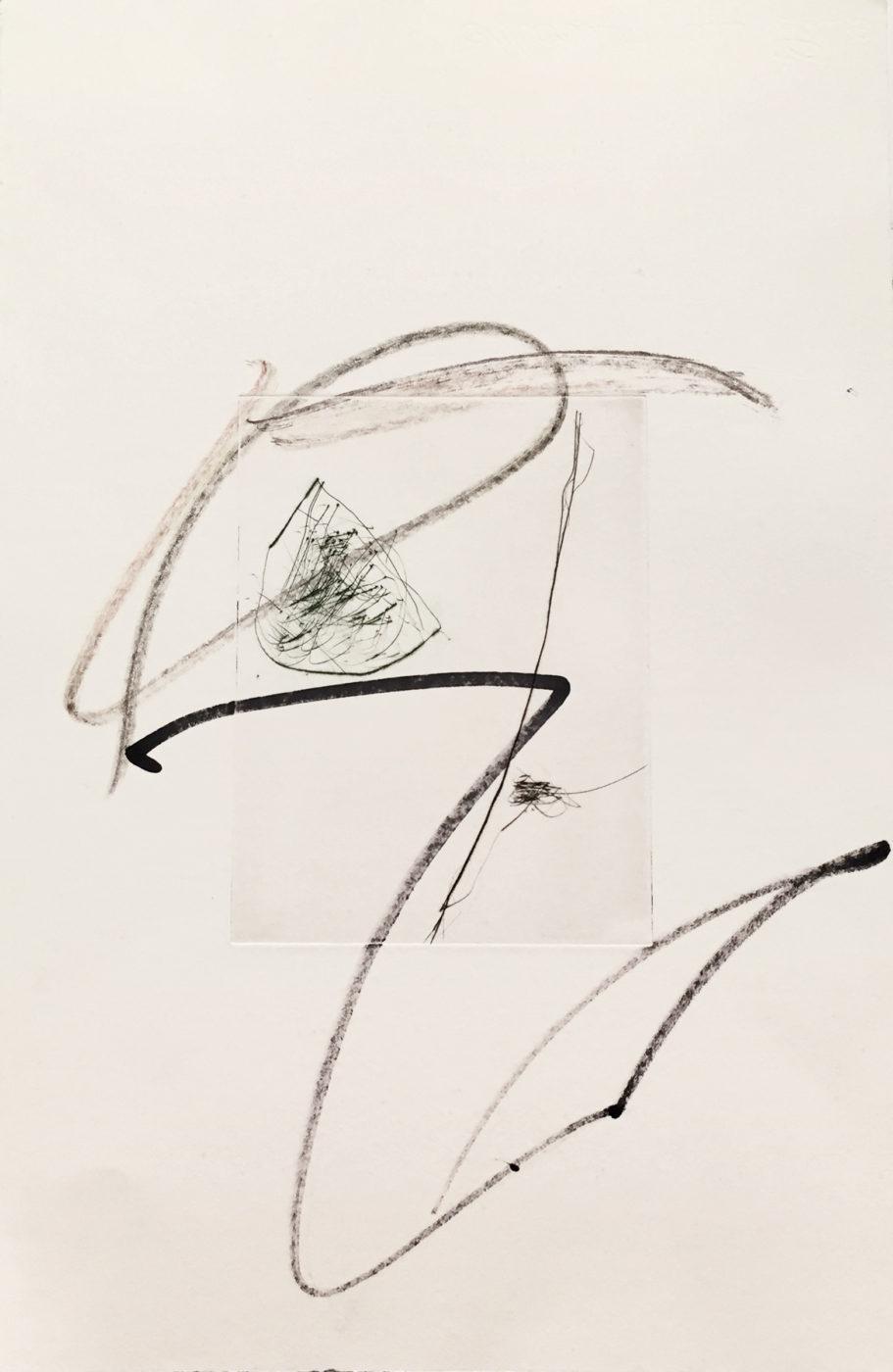 MARC FELD 2010-2016 LIGNES DE FUITE 2 Gravure sur zinc rehaussée au stylo feutre et à la mine de plomb 28 x 38 cm tirage Patrick Vernet