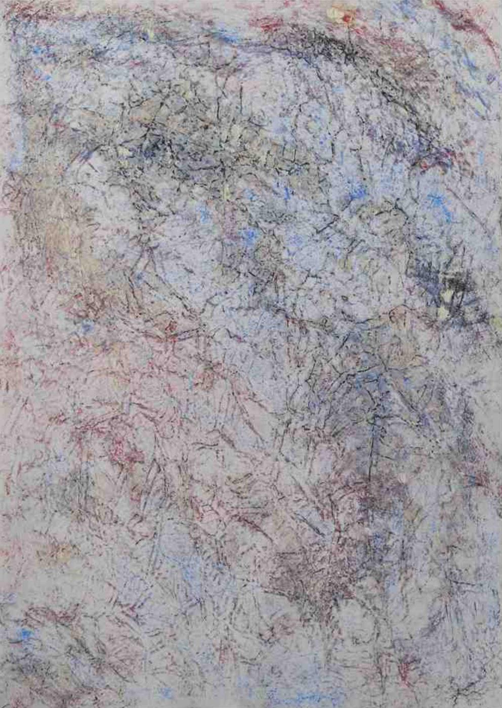MARC FELD 2010 CARTOMANCIE 2 Huile et pigment sur papier 44 x 63 cm