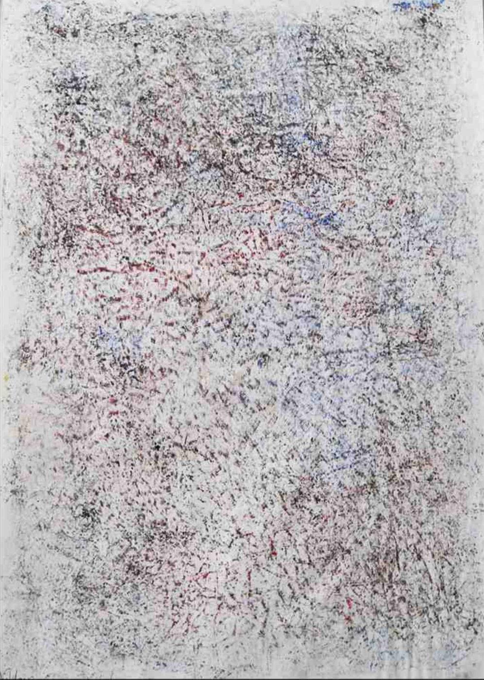MARC FELD 2010 CARTOMANCIE 3  Huile et pigment sur papier 44 x 63 cm