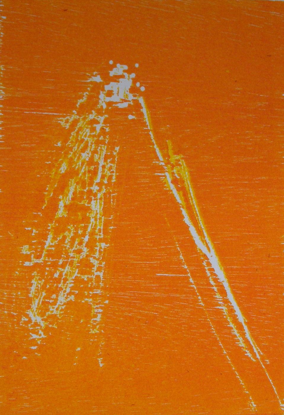 MARC FELD 2011 BRÛLURE Gravure sur cuivre encre sur papier 17 x 23 cm (tirage Patrick Vernet)