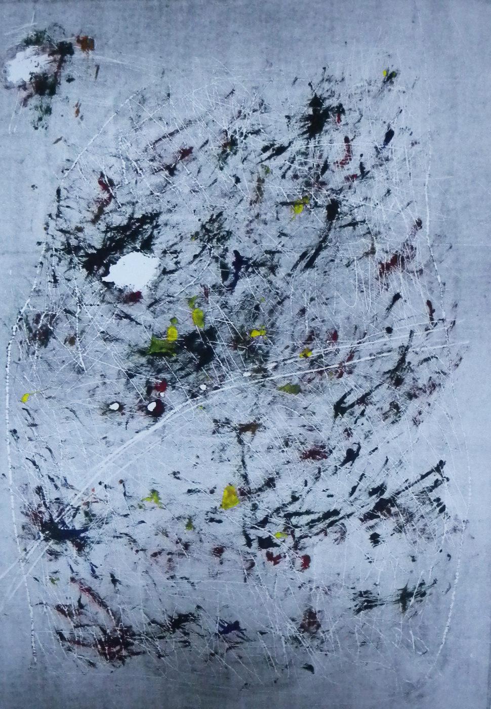 MARC FELD 2012 SONG FOR STEVE LACY 17  63 x 90 cm  Gravure sur bois encre sur papier  (Tirage Patrick Vernet)