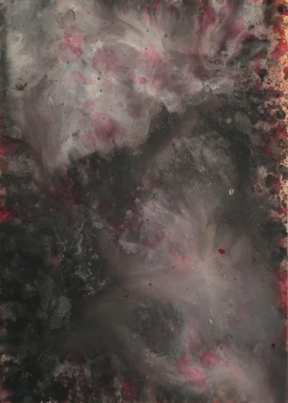 MARC FELD 2015 ÉLÉGIE 1 Huile sur papier 21x29,7 cm