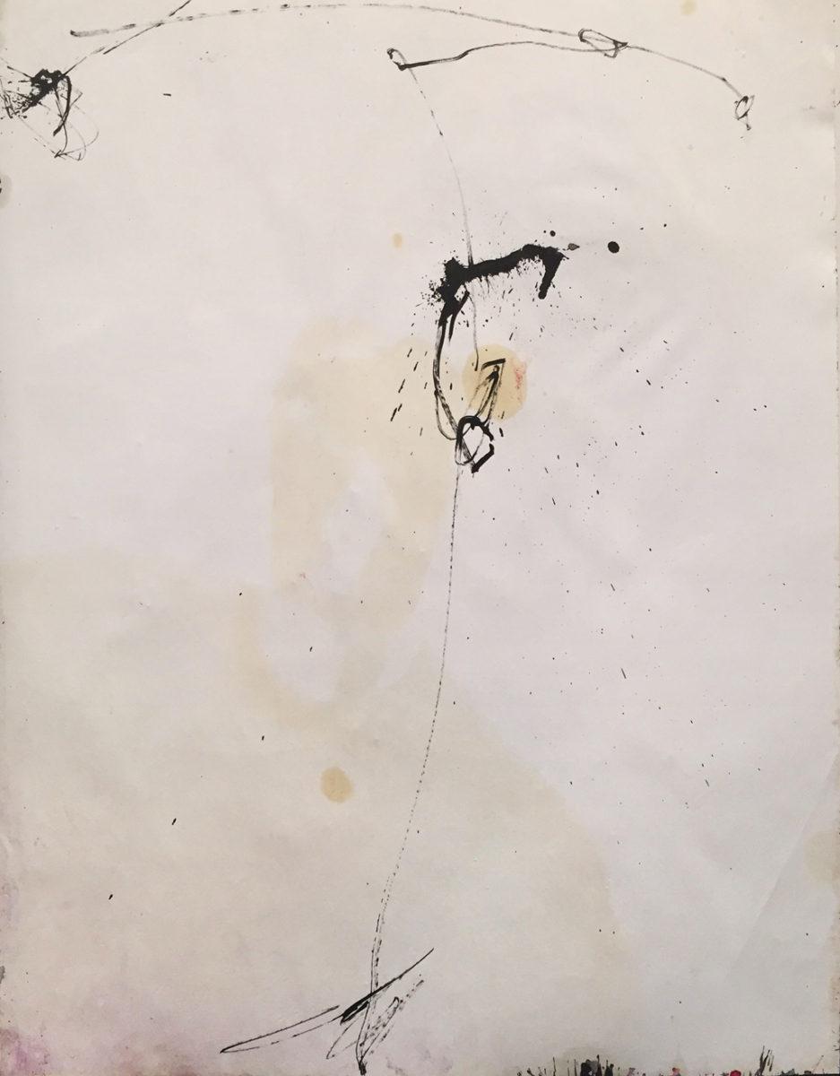 MARC FELD 2015 PINA 2 Huile, mine de plomb et pigment sur papier 50 x 65 cm