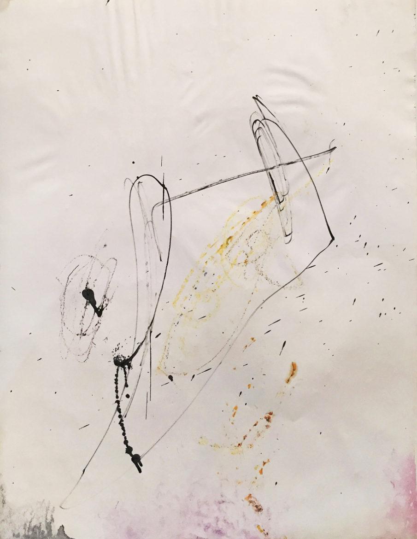 MARC FELD 2015 PINA Huile, mine de plomb et pigment sur papier 50 x 65 cm