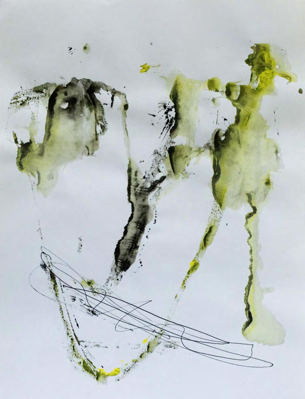 MARC FELD 2015 VISAGE 27 Gouache et stylo bille sur papier 24x32 cm