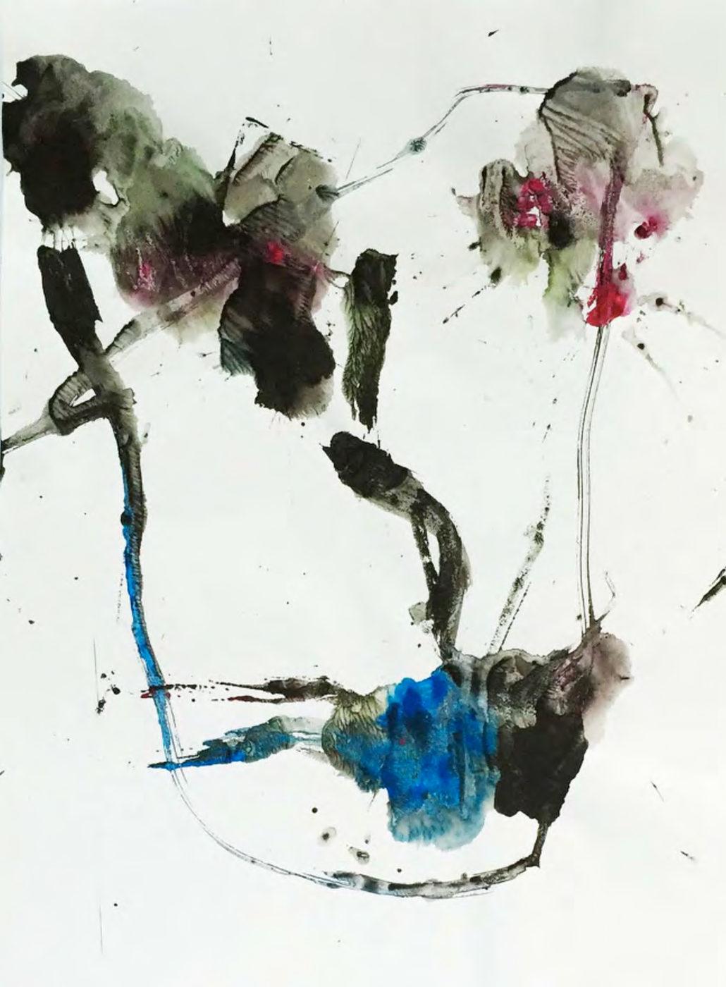 MARC FELD 2015 VISAGE 41 Gouache sur papier 24x32 cm
