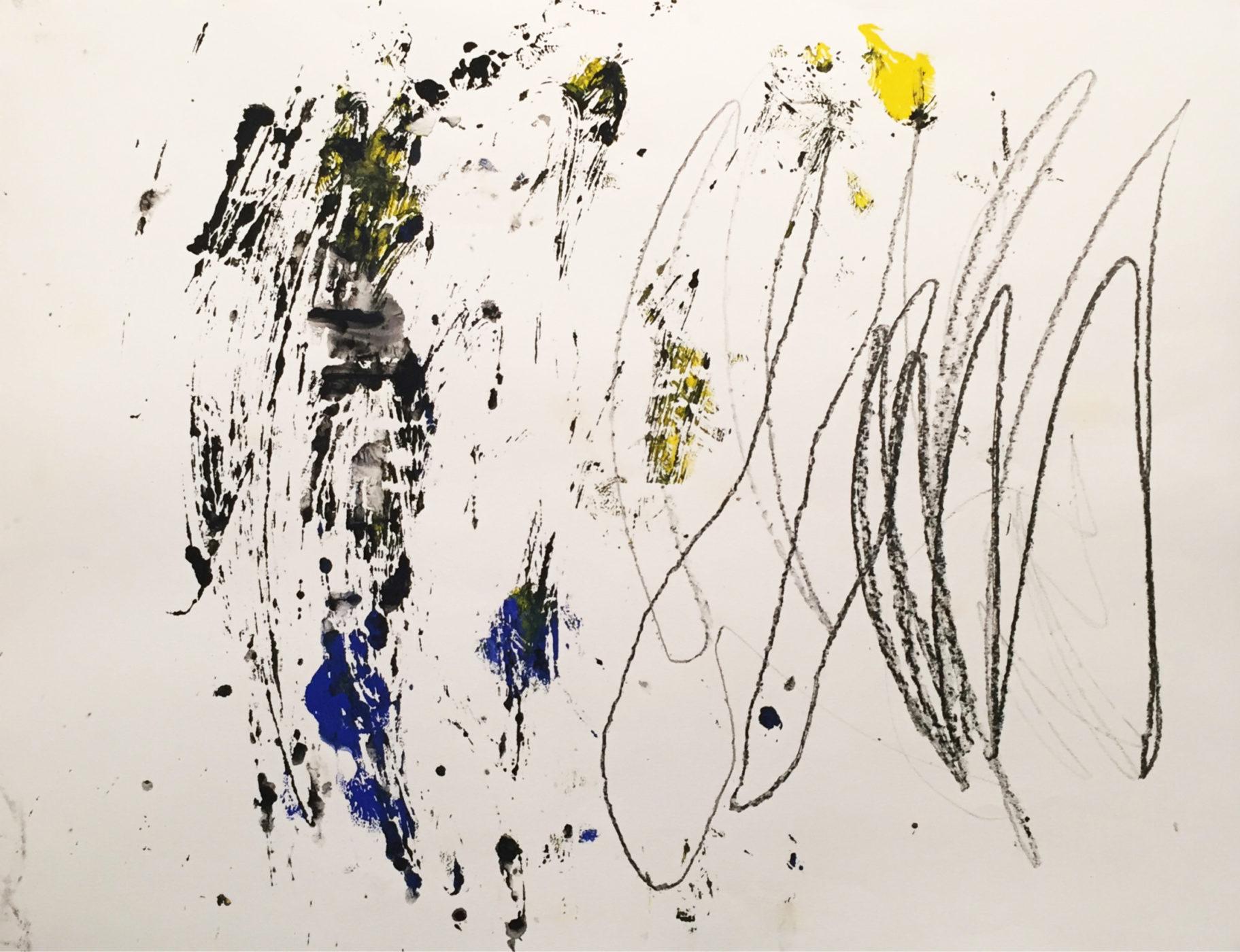 MARC FELD 2016  DANSE  Acrylique et mine de plomb sur papier 50 x 65 cm