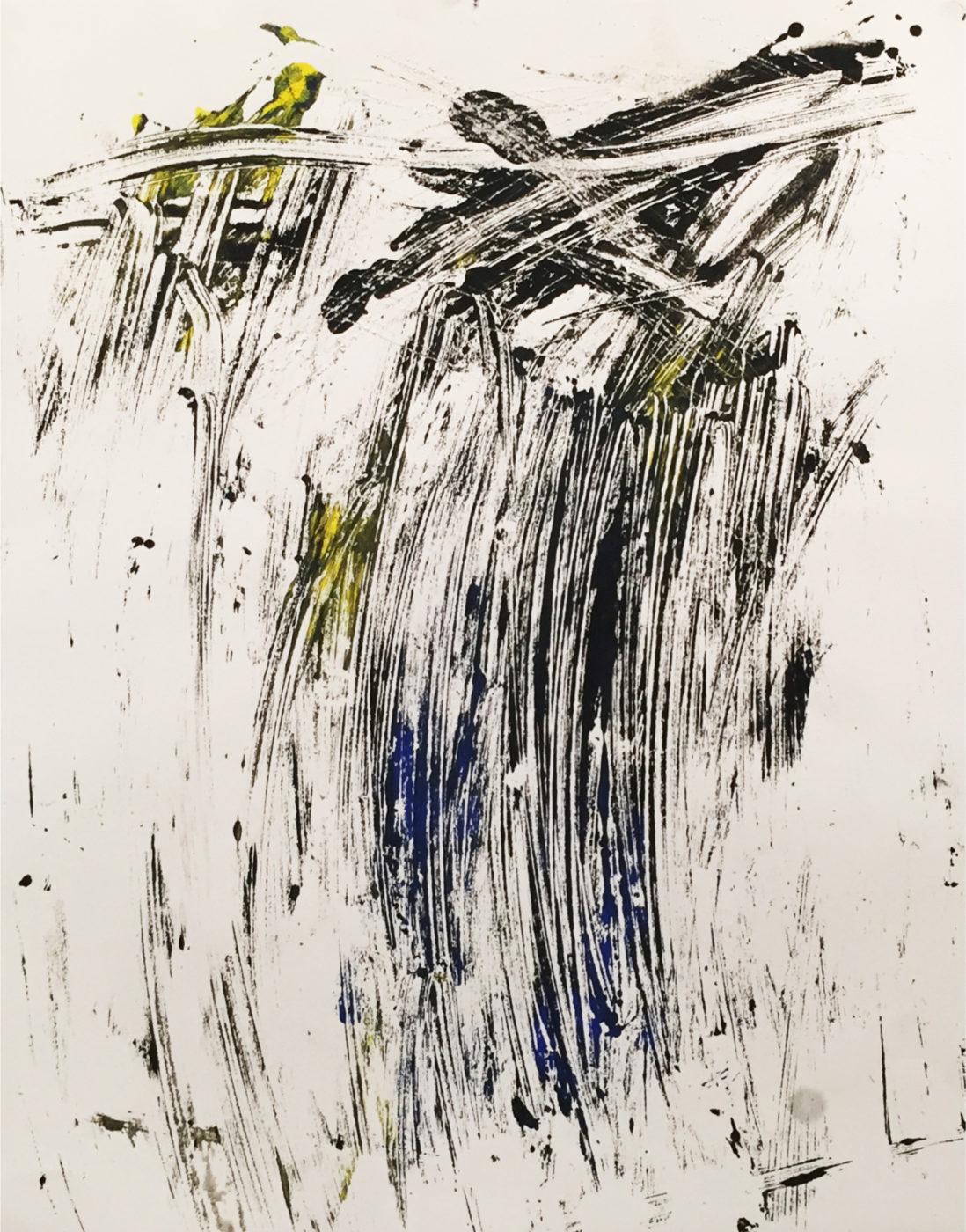 MARC FELD 2016 FISSURES  Acrylique et mine de plomb sur papier 50 x 65 cm