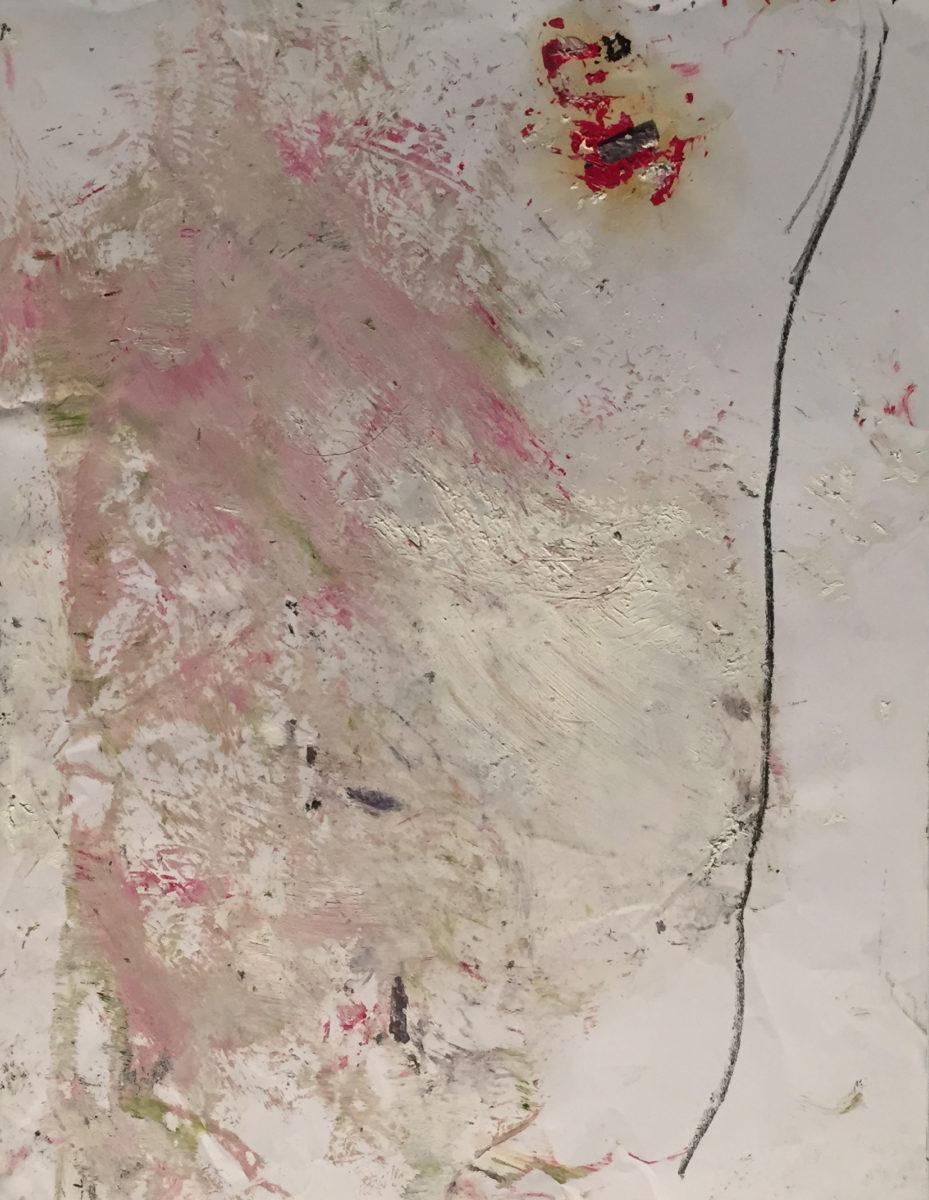 MARC FELD 2016 JAPON Huile et mine de plomb sur papier 50 x 65 cm