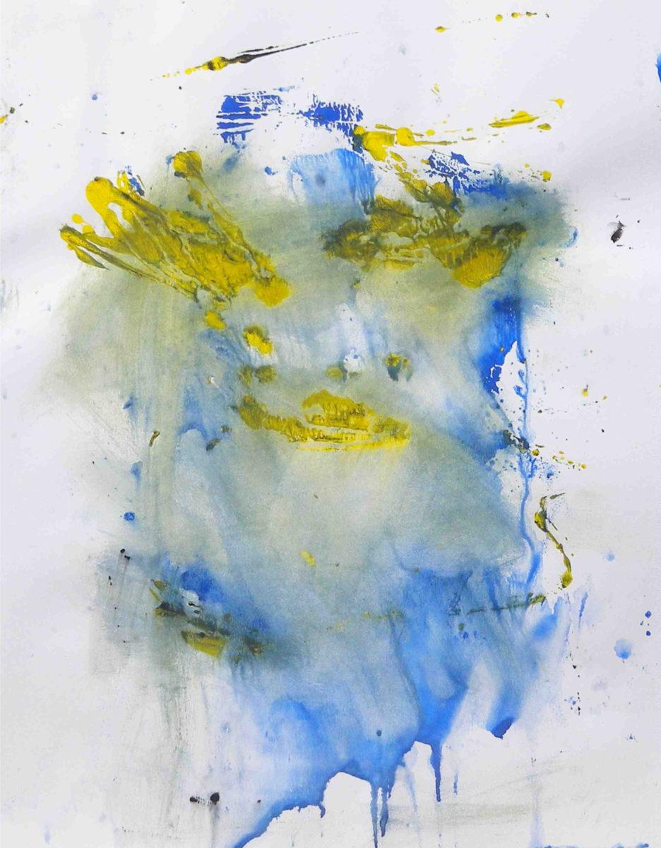 MARC FELD 2016 MÉMOIRE Gouache et eau de javel sur papier 50 x 65 cm