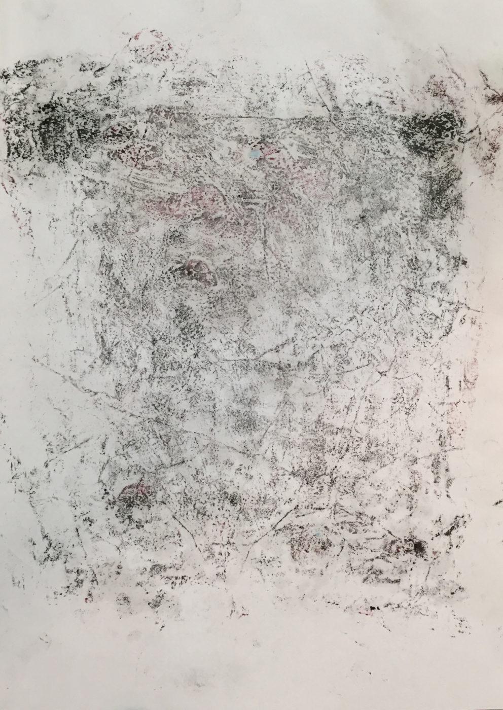 MARC FELD 2016 TREMBLÉ Huile, mine de plomb et acrylique sur papier 29,7x21 cm