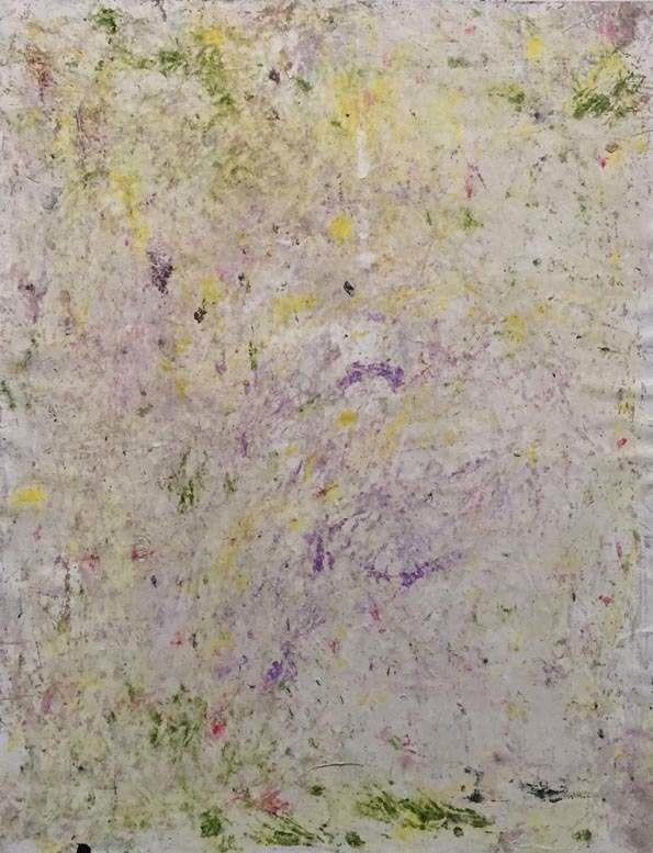 MARC FELD 2016 VENETIA Huile et acrylique sur papier 50 x 65 cm