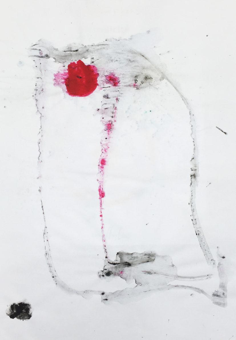 MARC FELD 2016 VISAGE 1 Gouache sur papier 29,5x42 cm