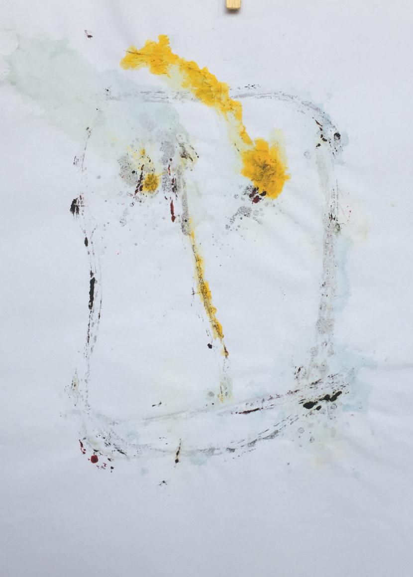 MARC FELD 2016 VISAGE 10 Gouache sur papier 29,5x42 cm