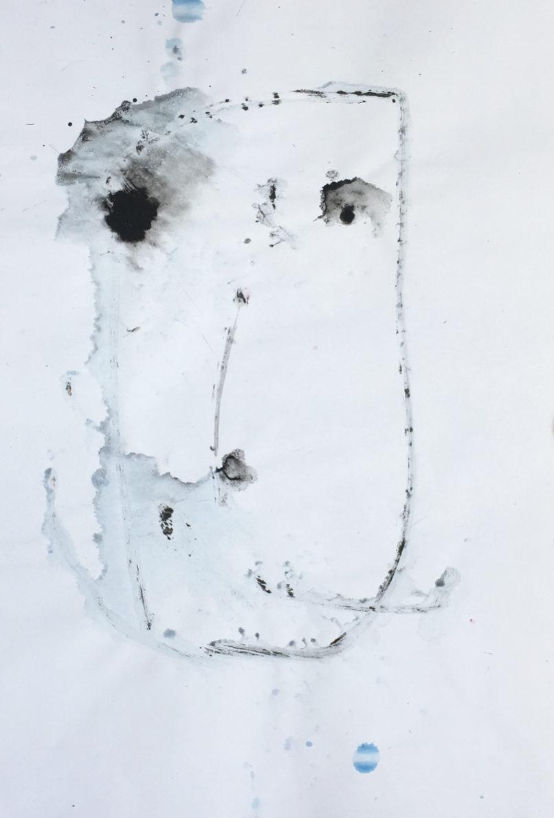 MARC FELD 2016 VISAGE 14 Gouache sur papier 29,5x42 cm