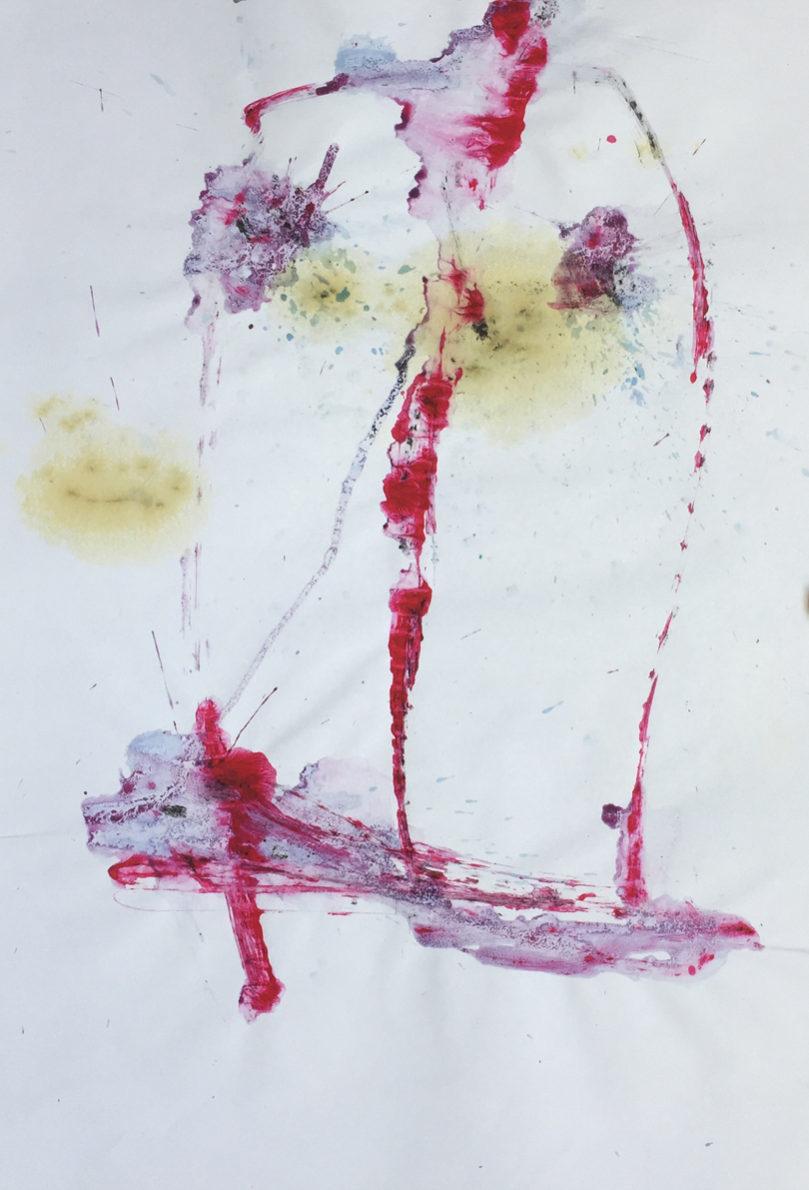 MARC FELD 2016 VISAGE 16 Gouache sur papier 29,5x42 cm