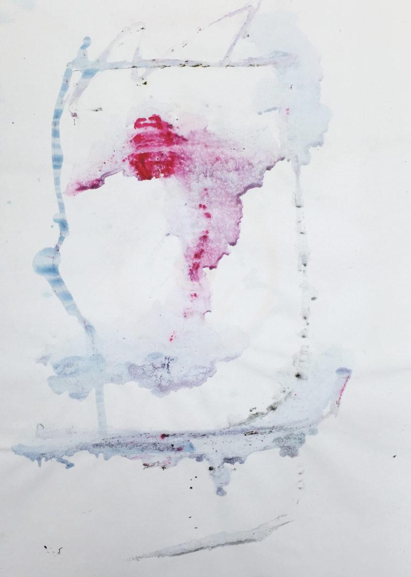 MARC FELD 2016 VISAGE 2 Gouache sur papier 29,5x42 cm