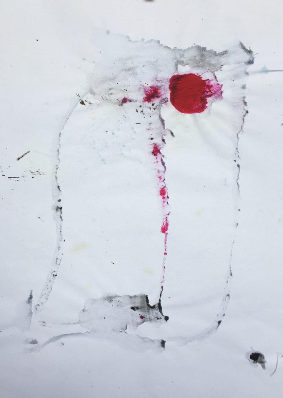 MARC FELD 2016 VISAGE 8 Gouache sur papier 29,5x42 cm