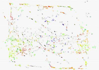 MARC FELD 2017 CARTOGRAPHIE 3   dessin sur ordinateur tirage encre sur papier canson 240 g marouflé sur dibon 89 x 62 cm