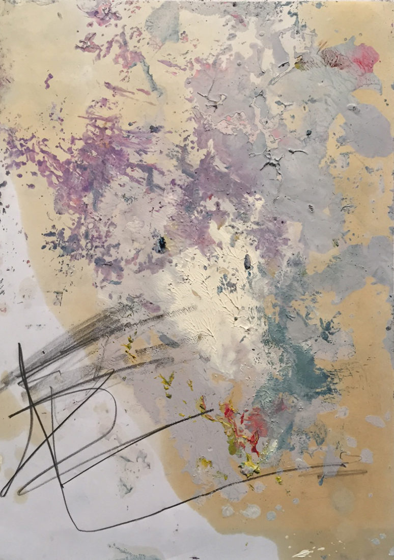 MARC FELD 2017 FILIN Huile et mine de plomb sur papier 21x29,7 cm