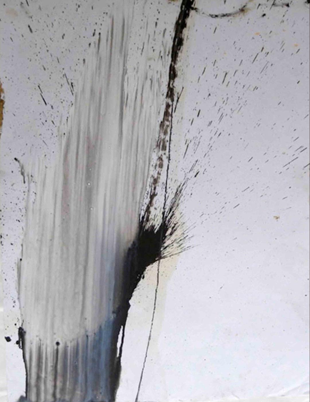 MARC FELD 2009 NERFS ET NERVURES 1 Huile et mine de plomb sur papier 65 x 50 cm