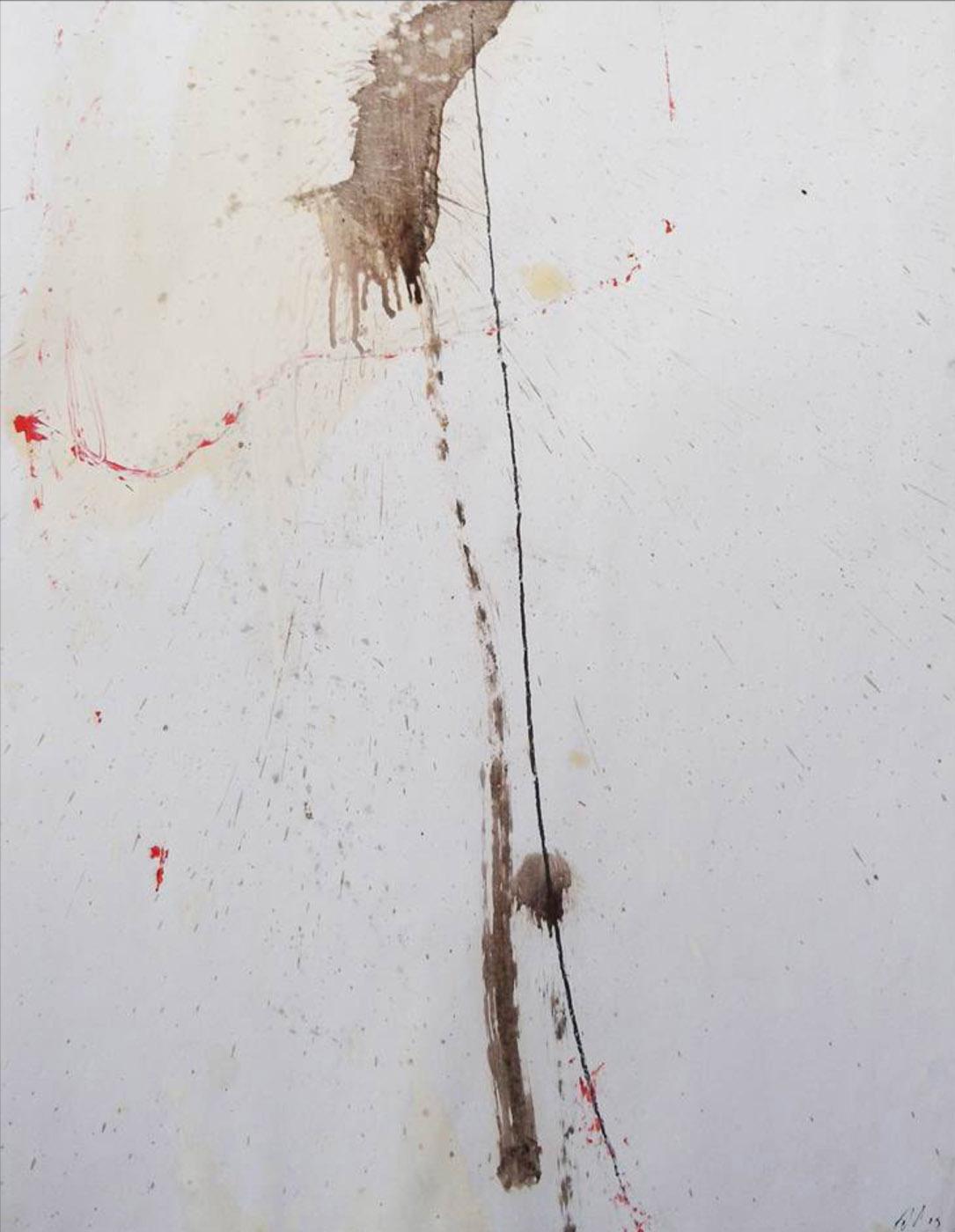 MARC FELD 2009 OZU huile, mine de plomb et pigment sur papier 50 x 65 cm