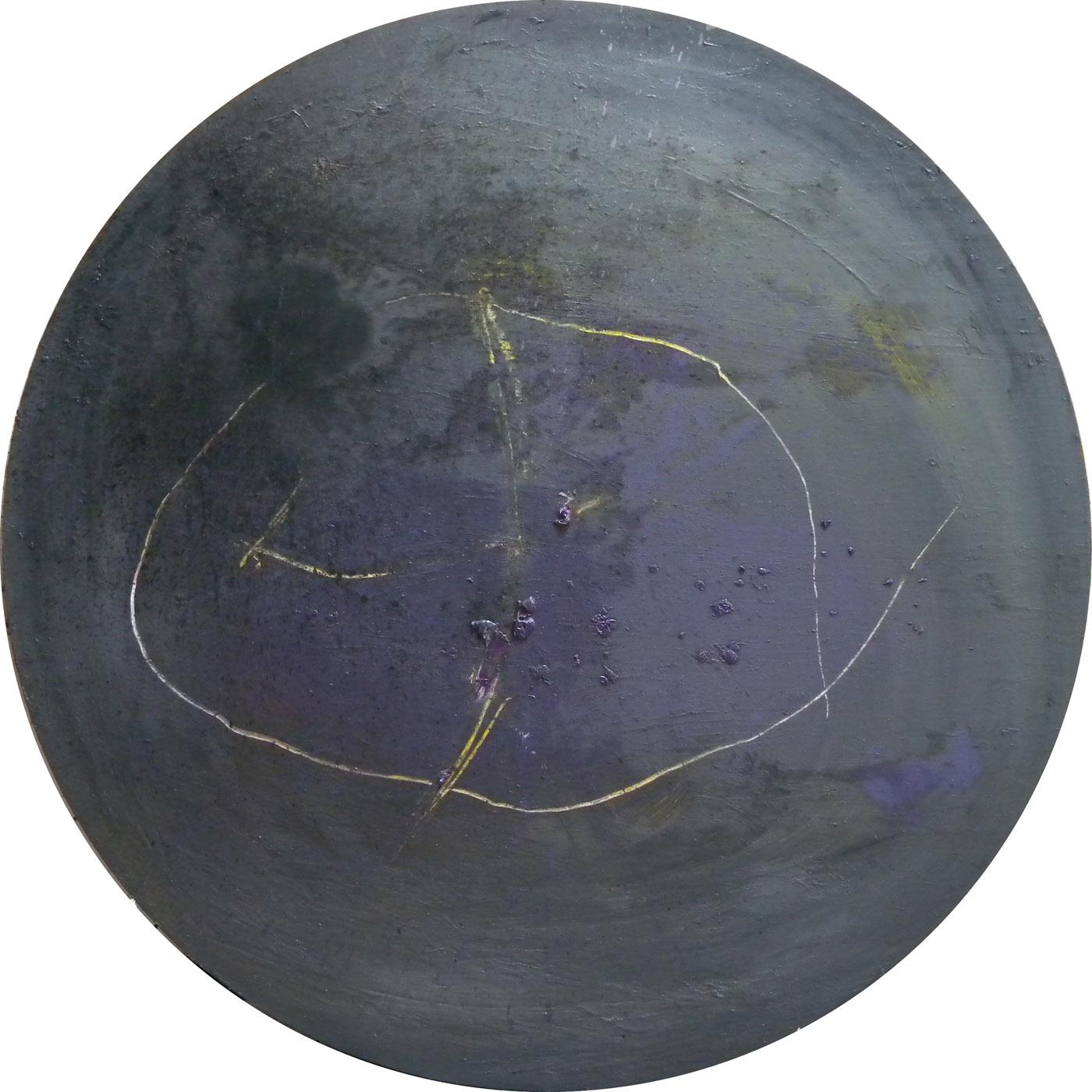 MARC FELD 2010 PARADE FOR CHAÏM 5 Huile sur toile diamètre 190 cm