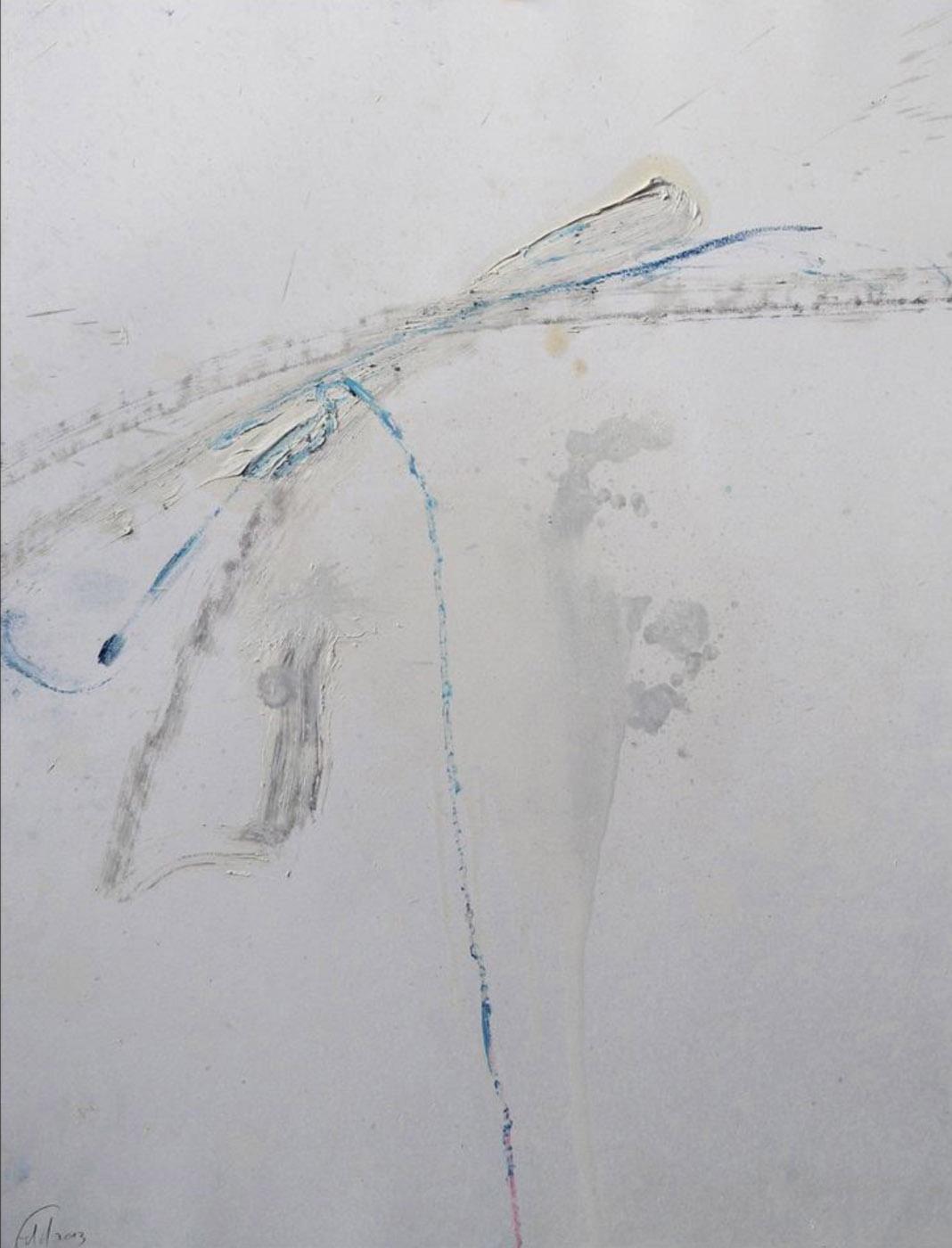 MARC FELD 2013 RESSOURCE huile et pigment sur papier 50 x 65 cm