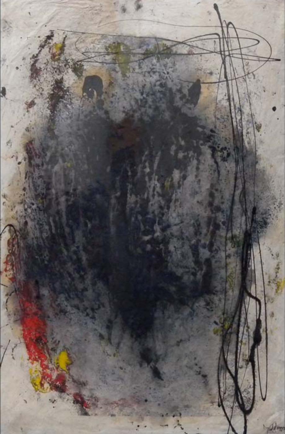 MARC FELD 1999 SONG FOR DANIEL DOBBELS 1 Huile pigment sur papier sur papier marouflé sur toile 50 x 76 cm