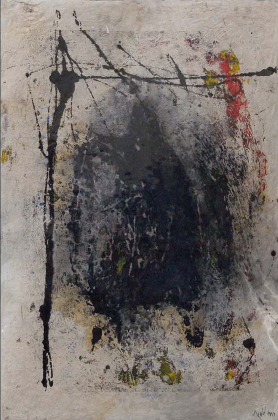 MARC FELD 1999 SONG FOR DANIEL DOBBELS 2 Huile pigment sur papier sur papier marouflé sur toile 50 x 76 cm