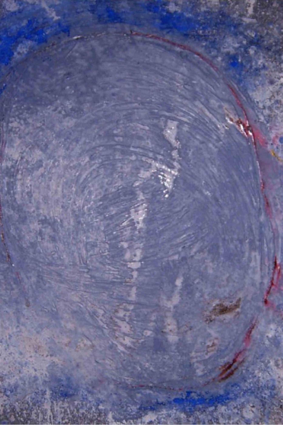 MARC FELD 2000 GALILÉE Huile, pigment et poudre de marbre sur papier 100 x 65 cm