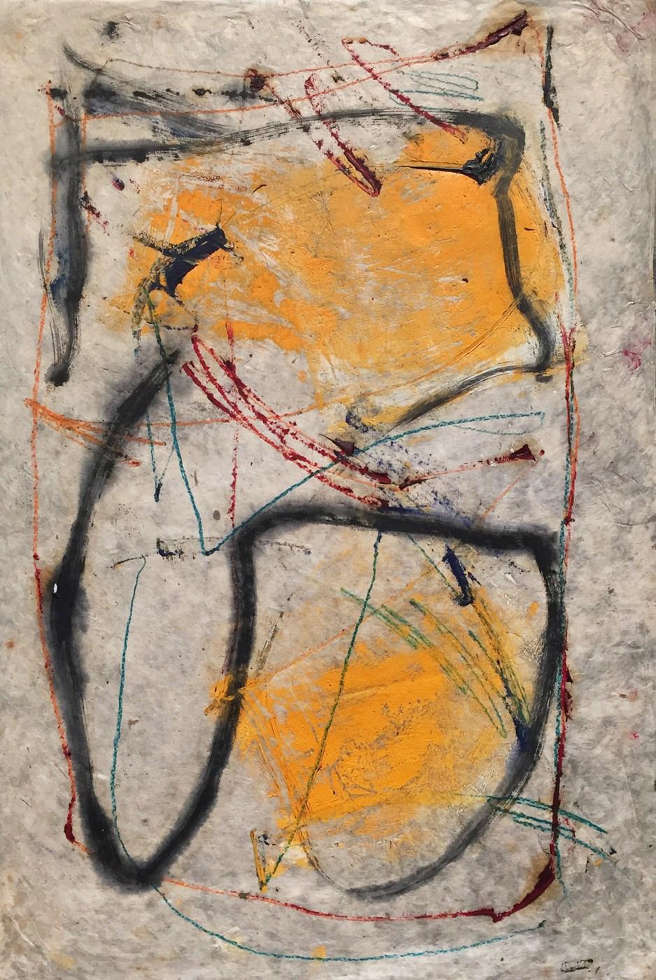 MARC FELD 2000 RIGODON 1 Huile et crayon de couleur sur papier 50 x 76 cm