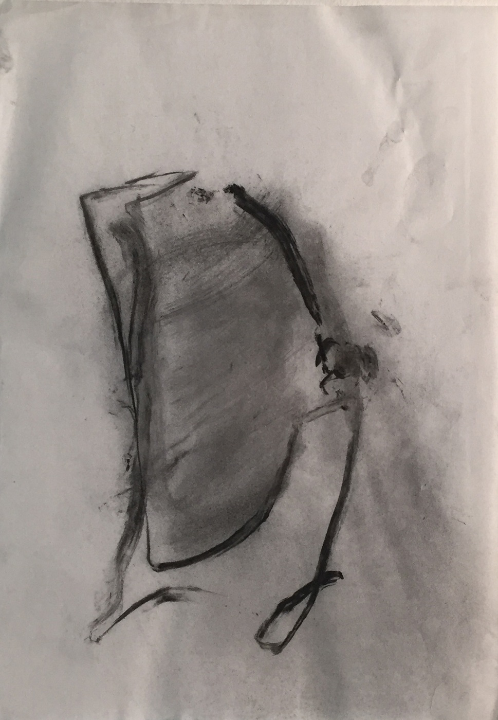 MARC FELD 2003 PRÉSAGE Fusain sur papier 21 x 29.7 cm