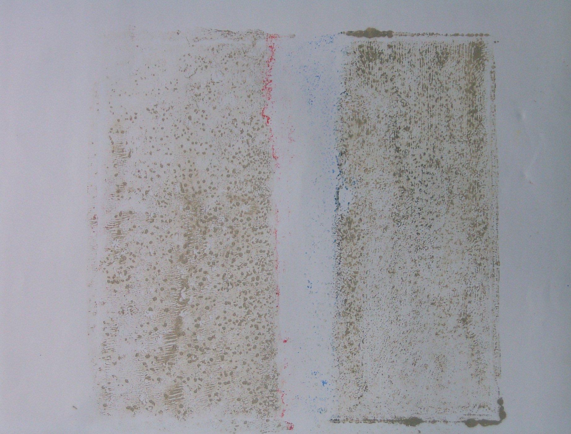 MARC FELD 2004 PATIENCE 1 Huile et pigment sur papier  44 x 64 cm
