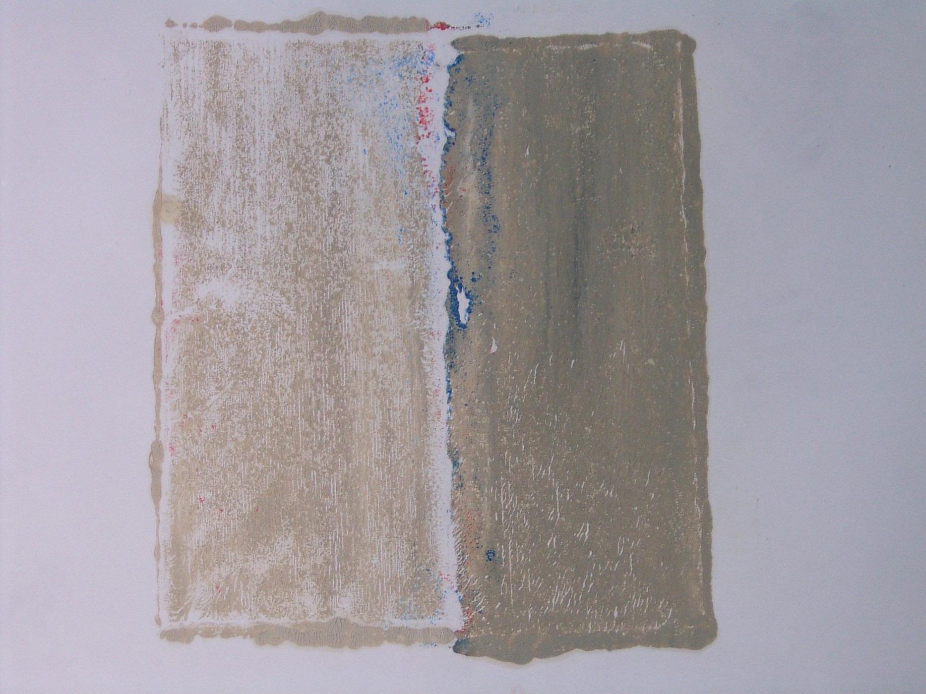 MARC FELD 2004 PATIENCE 2 Huile et pigment sur papier  44 x 64 cm