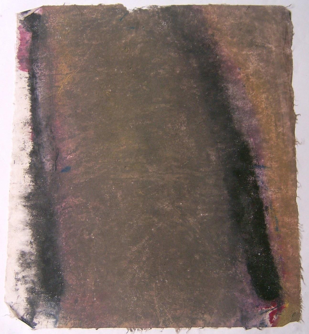 MARC FELD 2008 RÉCOLTE Huile sur papier  40 x 50 cm